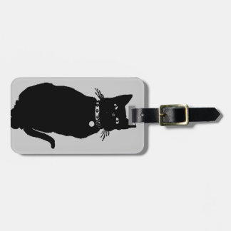 Beware the Black Cat Luggage Tag