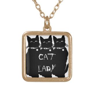 Beware the Black Cat Custom Necklace