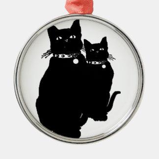 Beware the Black Cat Christmas Ornament