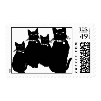 Beware the Black Cat Stamps