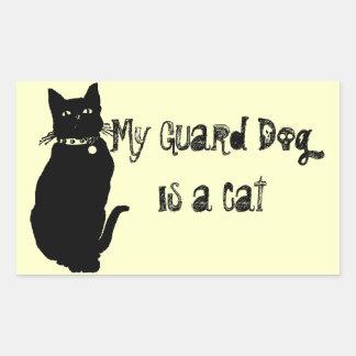 Beware the Black Cat Rectangular Sticker