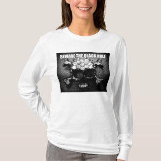 BEWARE THE BLACK HOLE print T-Shirt
