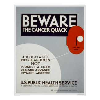 Beware The Cancer Quack 1938 WPA Poster