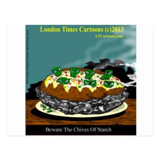 Beware The Chives Of Starch Funny Potato Postcard