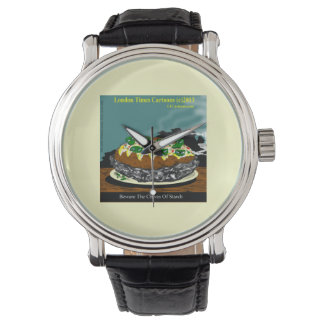 Beware The Chives Of Starch Funny Unisex Watch Wristwatch