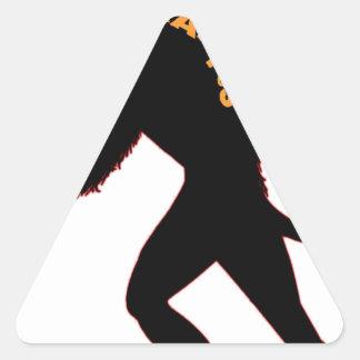 Beware the Christmas Krampus Triangle Sticker