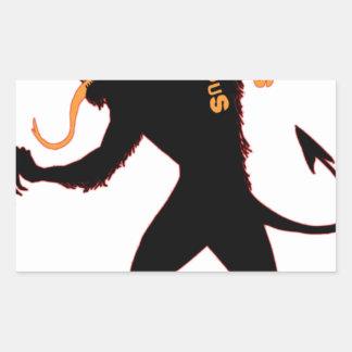 Beware the Christmas Krampus Rectangular Sticker