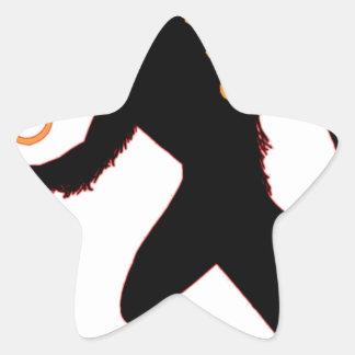 Beware the Christmas Krampus Star Sticker