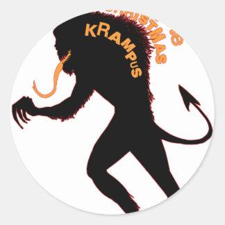 Beware the Christmas Krampus Classic Round Sticker