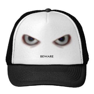BEWARE THE EVIL EYES TRUCKER HAT