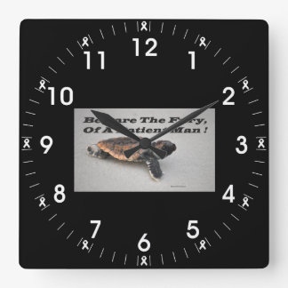 Beware The Fury, Of A Patient Man Square Wall Clock