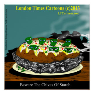 Beware The Ides Of March Funny Potato Poster