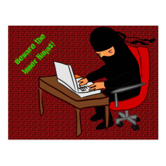 Beware the Inner Ninjas! Postcard