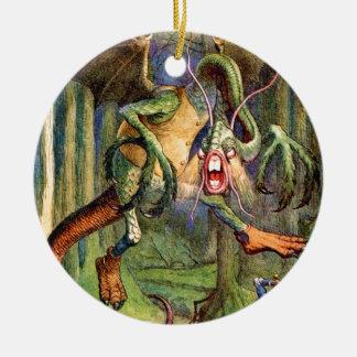 Beware the Jabberwock, my son! Ceramic Ornament