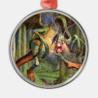 Beware the Jabberwock, my son! Metal Ornament