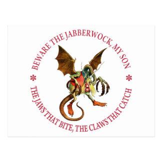 BEWARE THE JABBERWOCK, MY SON POST CARDS