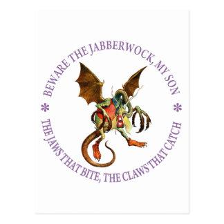 BEWARE THE JABBERWOCK, MY SON POST CARD