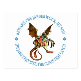 BEWARE THE JABBERWOCK, MY SON POSTCARD