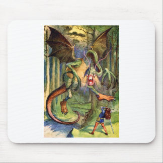 Beware the Jabberwock, my son! The jaws that bite, Mouse Pad