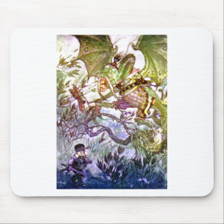 Beware the Jabberwock, My Son. The Jaws That Bite Mouse Pad