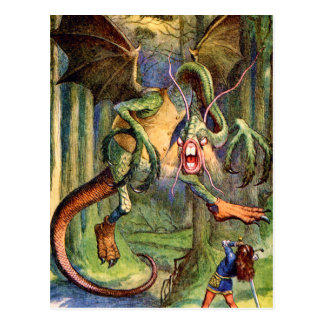 Beware the Jabberwock, my son! The jaws that bite, Postcard