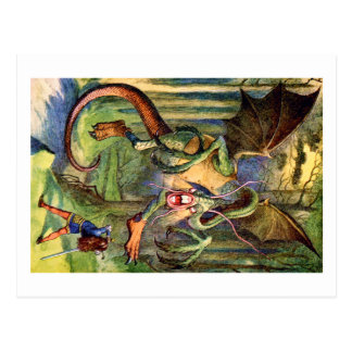Beware the Jabberwock, my son! The jaws that bite, Postcards
