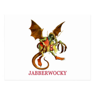 BEWARE THE JABBERWOCK MY SON, THE JAWS THAT BITE POST CARDS