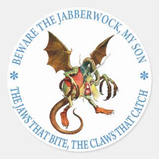 Beware the Jabberwock, My Son. The Jaws That Bite Classic Round Sticker