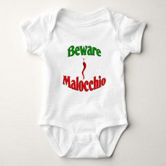 Beware The Malocchio (Evil Eye) Baby Bodysuit