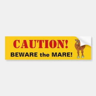 BEWARE the MARE Car Bumper Sticker