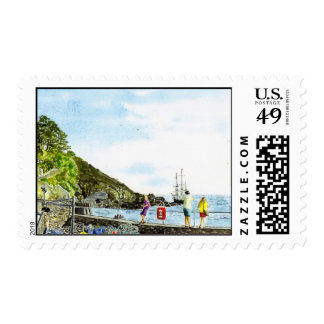 'Beware the Rocks' Postage
