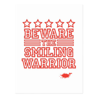 Beware the Smiling Warrior Postcard