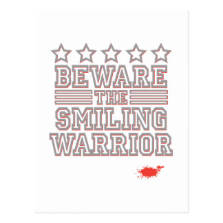 Beware the Smiling Warrior Postcards