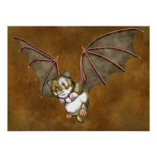 Beware the vampire hamster poster