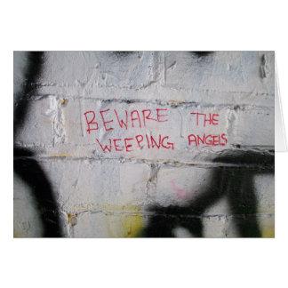 Beware the Weeping Angels Card