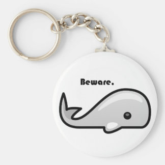Beware the White Whale Cartoon Keychain