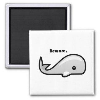 Beware the White Whale Cartoon Fridge Magnets