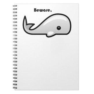 Beware the White Whale Cartoon Notebook