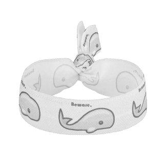Beware the White Whale Cartoon Ribbon Hair Ties