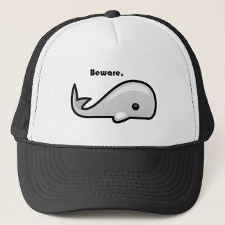 Beware the White Whale Cartoon Trucker Hat