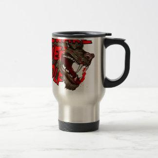 Beware The Wolf 15 Oz Stainless Steel Travel Mug