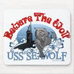 Beware The Wolf! USS Seawolf Mouse Pad