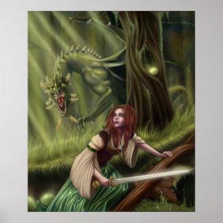 Beware the Woods Framed Print