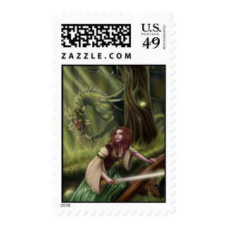 Beware the Woods Postage