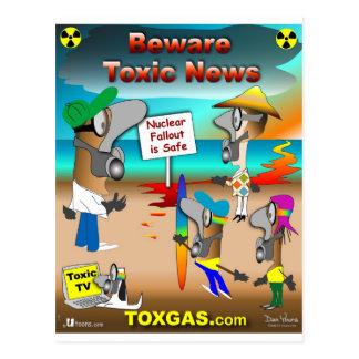 Beware Toxic News Postcard