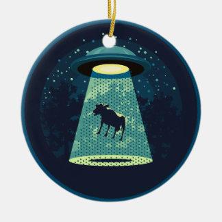 Beware UFO Ceramic Ornament