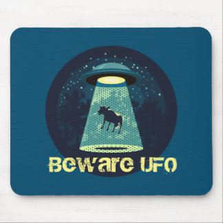 Beware UFO Mouse Pad