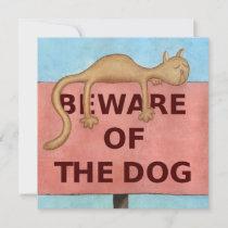 BewareOfTheDog_large Holiday Card