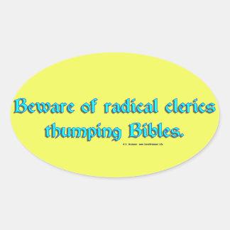 BewareRadicalClerics2 Oval Stickers