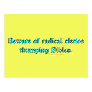 BewareRadicalClerics2 Tarjetas Postales